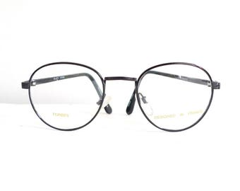 a8edfc75cb97 Lennon Glasses Round Black Metal Eyeglasses Frame Harry Potter Glasses  George Burns Circular Sunglasses NOS Never Used