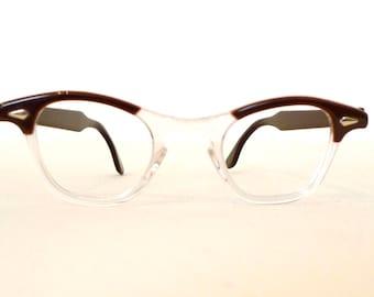 a444d47319 Unused Tart Optical Glasses Vintage 60s NOS Crystal Clear   Brown Cats Eye  Eyeglasses G-Man Sunglasses Tart Arnel Cat Eye