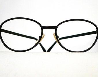 1c38c77d345a Black Metal Oval Bubble Frame W Germany 60s 70s Harry Potter Eyeglasses  Sunglasses Never Used John Lennon Harry Potter Oval Round