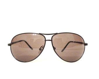e221423a1c8 Big Vintage 70s Black METAL Aviator Eyeglasses Frames  Hip Hop Sunglasses  on sale