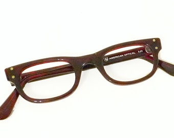 640338e761 NOS American Optical Wayfarer SMALL Vintage Unused 60s Never Used Faux Tortoise  Eyeglass Sunglass Tart Arnel Style Cateye Glasses Frame