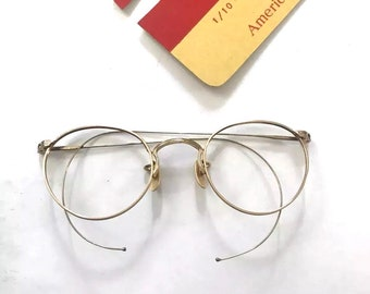 2cfa0611add2 Unused Larger Eyeglass Frames in the Windsor Style. John Lennon. Panto.  Cable Temples. Boho Chic