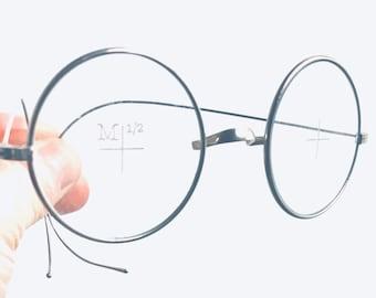 0a448cbf37cc John Lennon Glasses Antique Spectacle Eyeglass Frame Goggles Steampunk  Optical Saddle Bridge Metal Steve Jobs Harry Potter Test Frame Rare