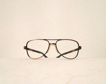 0d5d4a20a18e Vintage Never Used Designer Aluminum Aviator Eyeglasses Frame Sunglasses  American Hustle Hip Hop Street Pilot Driver Coppertone Metal
