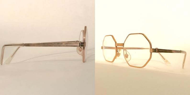 32ab1577aec7 GOlden Frame France Polygon Glasses 20 000 14K GF