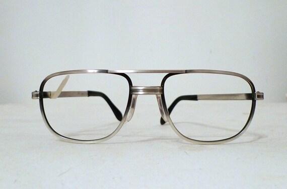 ec9e1f4fe5e1 Items similar to NOS Big Aviator Eyeglasses Frames   Hip Hop Frames  Swass  Metal Driver Sunglasses  Silvertone   Black Pewter Effect on Etsy