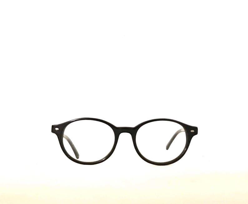 315e9d45cf51a Round Oval Glasses Black Lennon Harry Potter Deadstock NOS