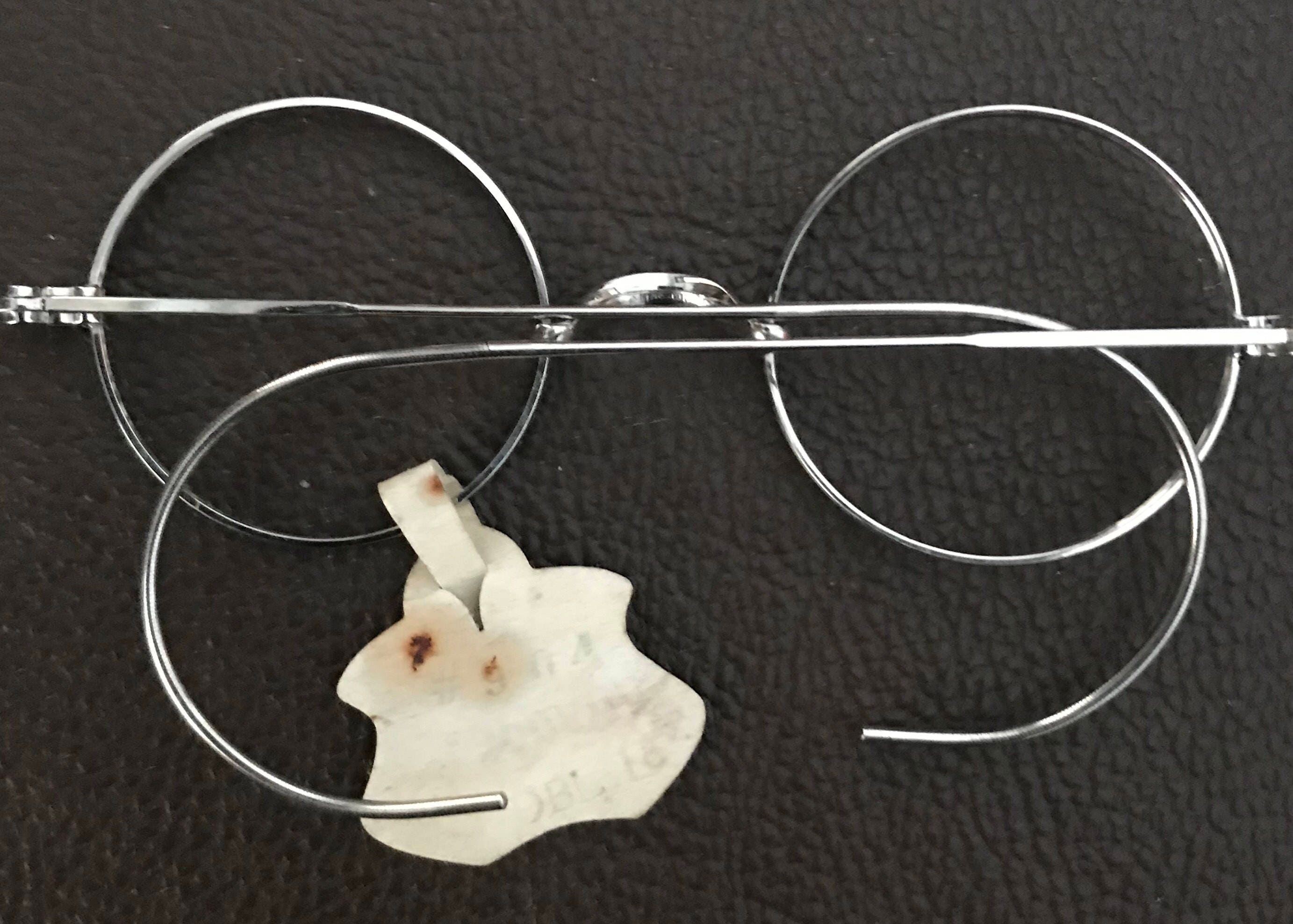 90db66088aa6 SMALL Antique White Gold Steampunk Silvery Glasses Never Used