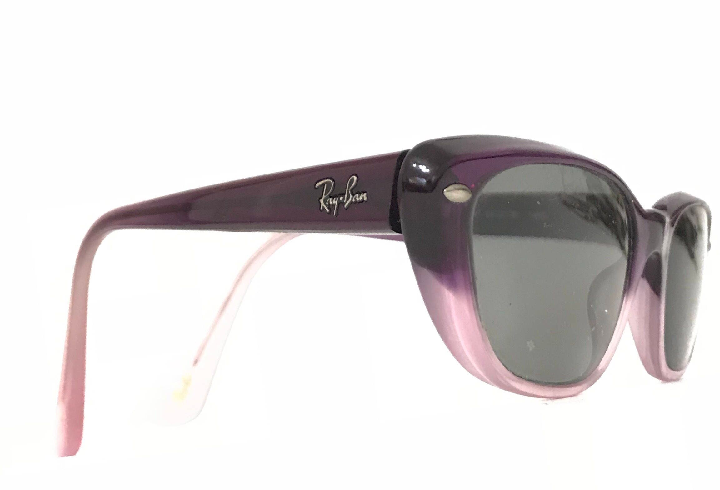 f7f8102e9354 Smaller Purple Pink Fade Ray-Ban Cat Eye Frame RB 5242