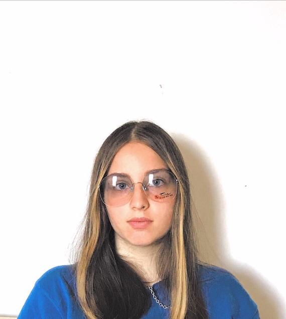 80s does 60s Janis Joplin Big Mod NOS Sunglasses T