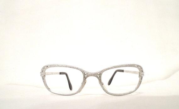 5e30f62e848c SALE Mod White Gold Eyeglass Frame. 1 20 12KT GF Metal