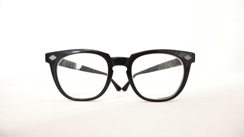 3d62cdcded76 Black Wayfarer-Style Eye Frames Bigger Nerd Eyeglasses  Mad