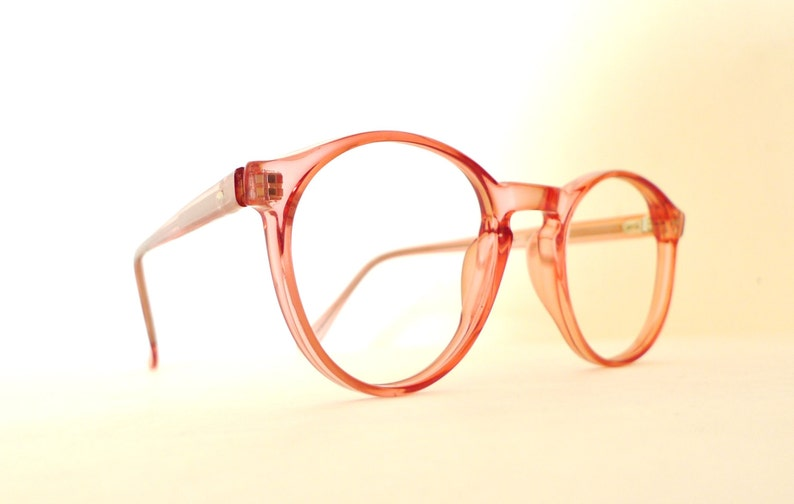 40ffbcf187 Andy Warhol Eyeglasses NOS Iconic Round Melon Pink Eyeglass