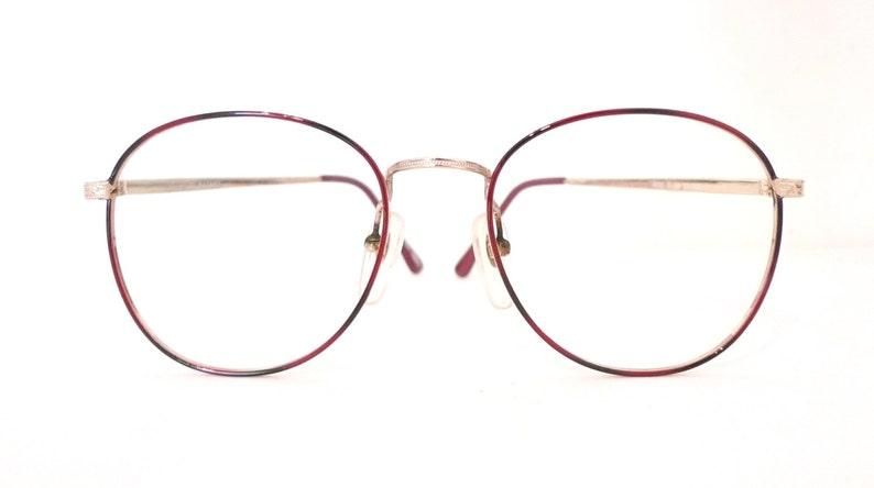 904c1778a1 Big Harry Potter Glasses VTG 80s NOS Burgundy Wine Round ish