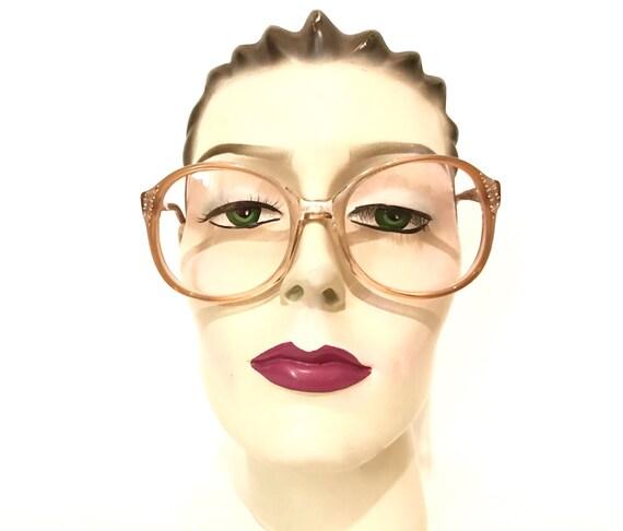 46c12ab32fee NOS Big Pink Rhinestone Eyeglass Frame Never Used Iconic Round
