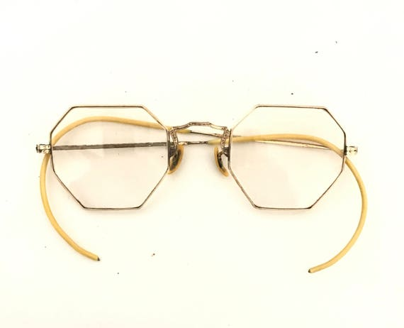 767543033fa3 Free Shipping Polygon Cat Eye Glasses Vtg 40s Mod Art Deco