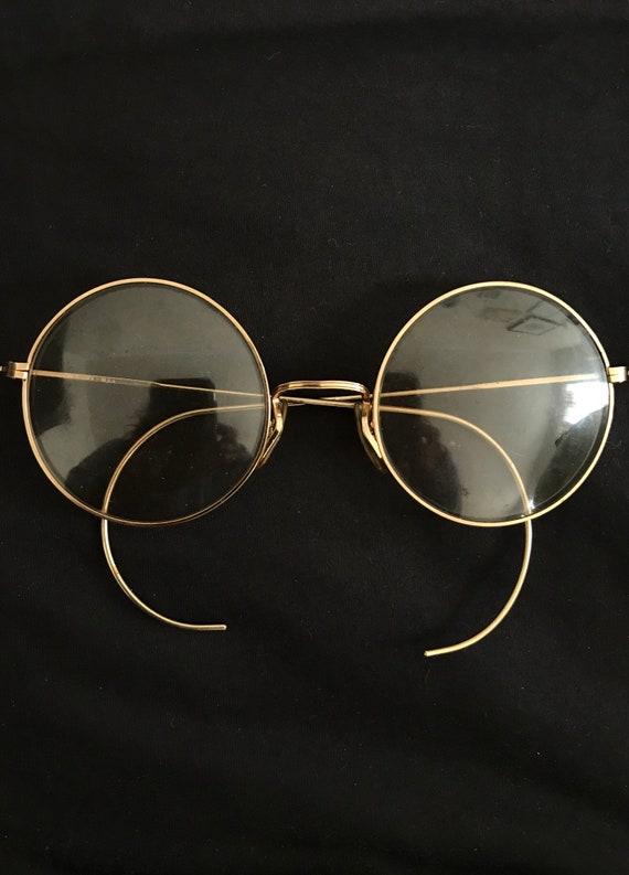 bbeacce54de2 Vtg 60s Big Perfectly Round Janis Joplin Eyeglasss Frame John