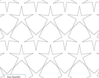 STAR SPARKLE - Longarm Quilting Digital Pattern Edge to Edge and Pantograph Handiquilter Gammill Statler Stitcher Bernina