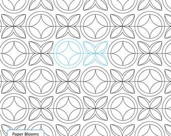 PAPER BLOOMS - Read Description - Digital Pattern, Pantograph Handiquilter Bernina Gammill Statler Stitcher Long Arm Edge to edge