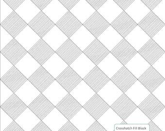 CROSSHATCH FILL BLOCK - Longarm Quilting Digital Pattern for Handiquilter Gammill Statler Stitcher Long Arm Machine