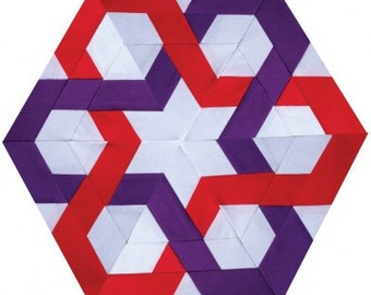 Third Wheel Paper Piecing Pattern for Sewing or Quilt Blocks PDF Instant Download