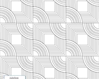 JUKEBOX PANTO + bonus BLOCK - Longarm Quilting Digital Pattern for Handiquilter Gammill Statler Stitcher Bernina