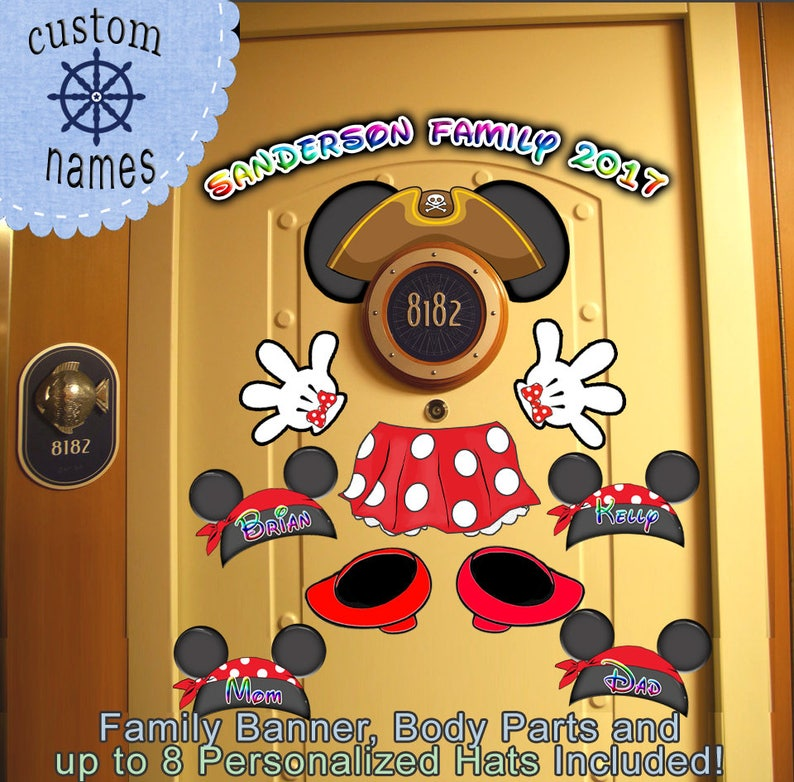 Pirate Minnie Body Personalized Disney Cruise Door Magnet Etsy
