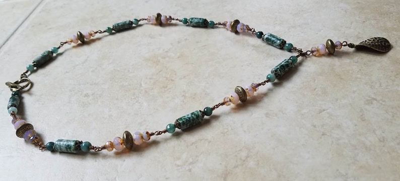 Tree Agate Necklace Agatha Necklace