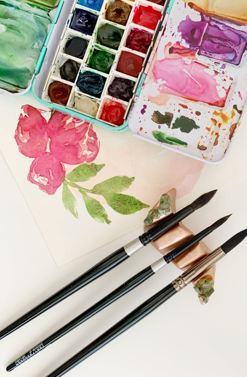 Green opal brush rest