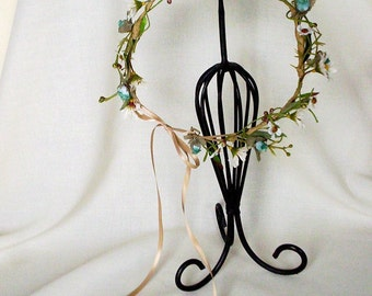 Music Festival Flower Crown summer hair wreath headband Hippie Bride floral AmoreBride wedding headpiece wild daisy flower girl halo