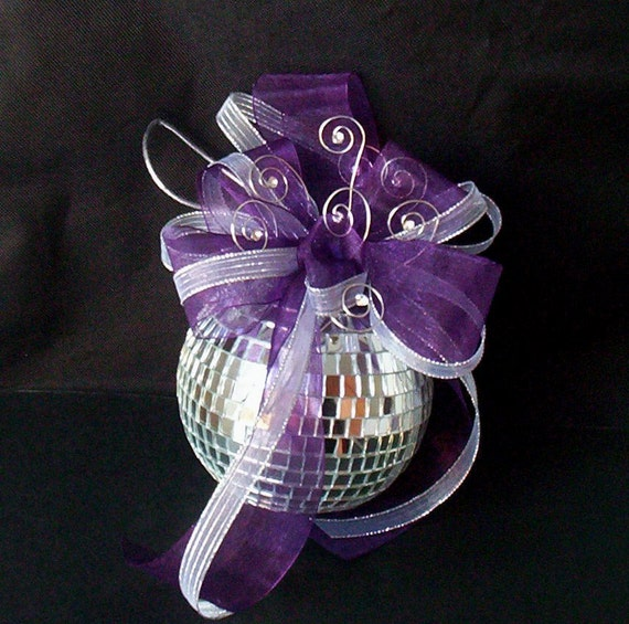 Wedding Cake Mirror Disco Ball Cake Topper Decoration New