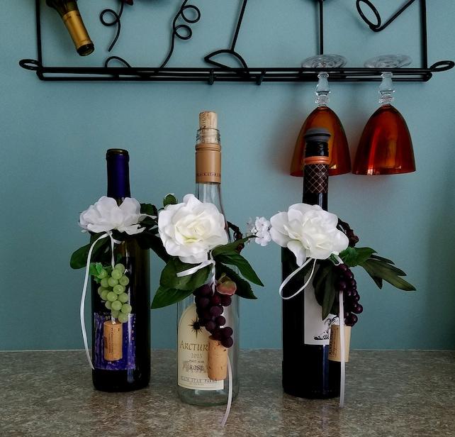 Set Of 8 Bridal Shower Wine Bottle Toppers Centerpieces Party Favor