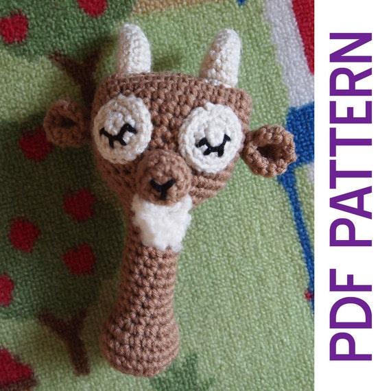 Patrón de amigurumi Crochet bosque soñoliento macho cabrío