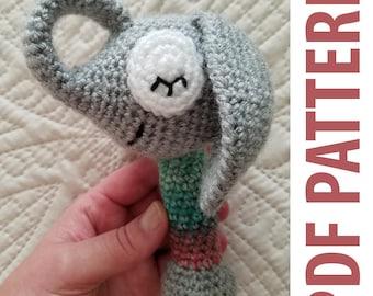 PDF Pattern: Sleepy Elephant Baby Rattle