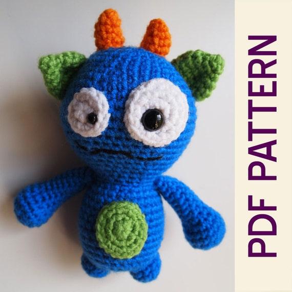 Amigurumi Häkeln dumme Monster Buddy Spielzeug PDF Muster | Etsy