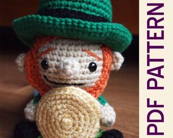 Amigurumi Littlest Leprechaun Crochet Pattern- Cute for St Patricks Day