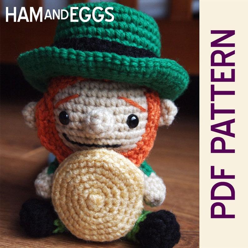 Amigurumi Littlest Leprechaun Crochet Pattern Cute for St image 1