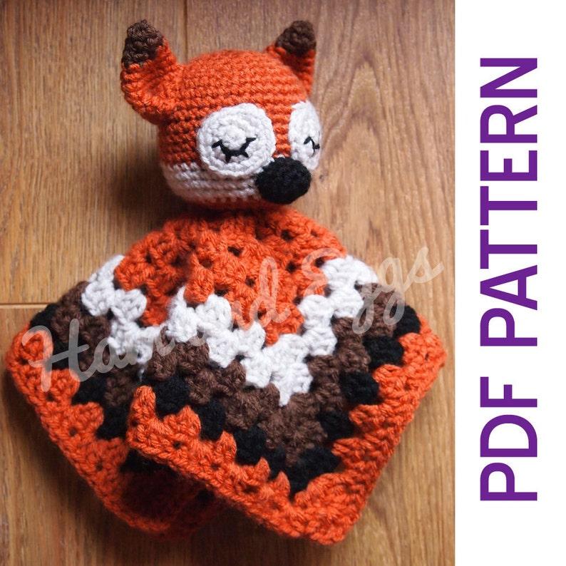 Amigurumi Woodland Sleepy Fox Security Baby Blanket Lovey PDF image 1