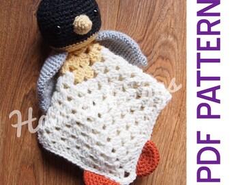 Amigurumi Penguin Security Blanket Lovey PDF Crochet Pattern