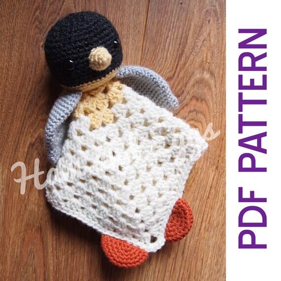 Patrón de Crochet de amigurumi pingüino manta de seguridad | Etsy