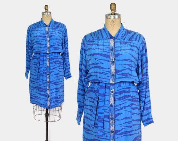 Vintage 80s Averardo Bessi Silk Dress / 1980s Sign