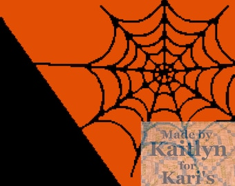 Spider Web Afghan Throw Blanket PDF Pattern for single crochet knit or tss - Graph + Written Instructions - Instant Download