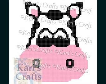 Cow Face Pillow or C2C Afghan Graph PDF Pattern GRAPH ONLY - Instant Download