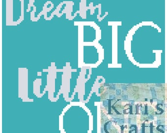 Dream Big Little One Baby or Toddler Afghan Blanket PDF Pattern for single crochet or knit-Graph + Written Instructions - Instant Download