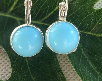 Turquoise Blue Lever Back Earrings for Women, Best Selling Items, Birthday Gift, Contemporary Jewelry, Gift under 25, Blue Earrings, gift