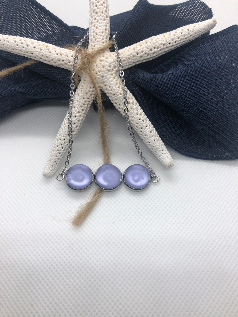 Purple Sea Glass Necklace 18 inch Cultured Sea Glass Necklace Gift under 30 Best Friend Gift Necklace for Woman Best Selling Items