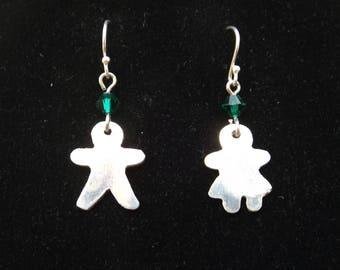 Gingerbread Dangle Earrings, Mr and Mrs Gingerbread earrings, Holiday earrings, Teacher gift, Stocking Stuffer, Coworker gift, Hairdresser
