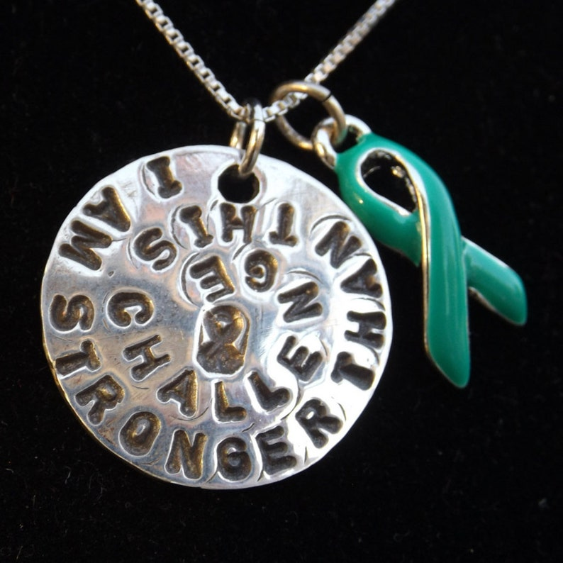 Stronger Than This Challenge Necklace Ovarian Cancer Etsy