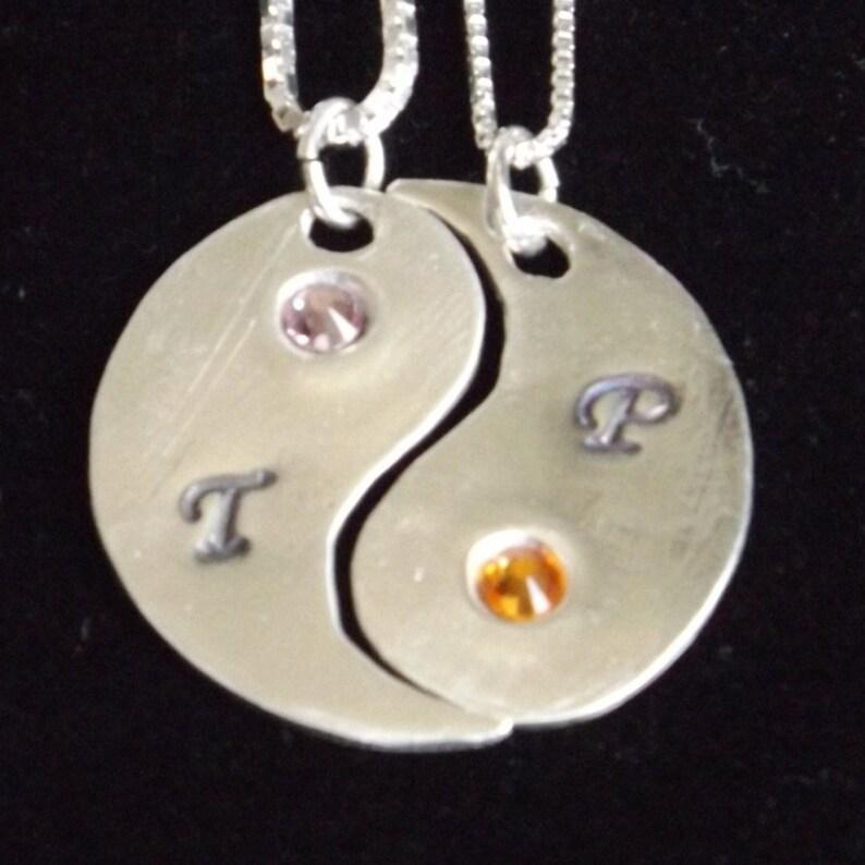 97dfdfce98061 Couples Anniversary necklace set, Split Yin Yang necklace, Couples Jewelry  set, Husband Wife gift, boyfriend girlfriend gift, best friends