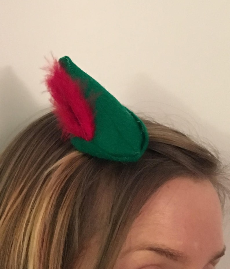 Peter Pan-inspired mini hat pixie hat  2db0d39a5e1b